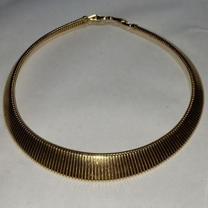 Monet Chunky Goldtone Choker Collar Necklace